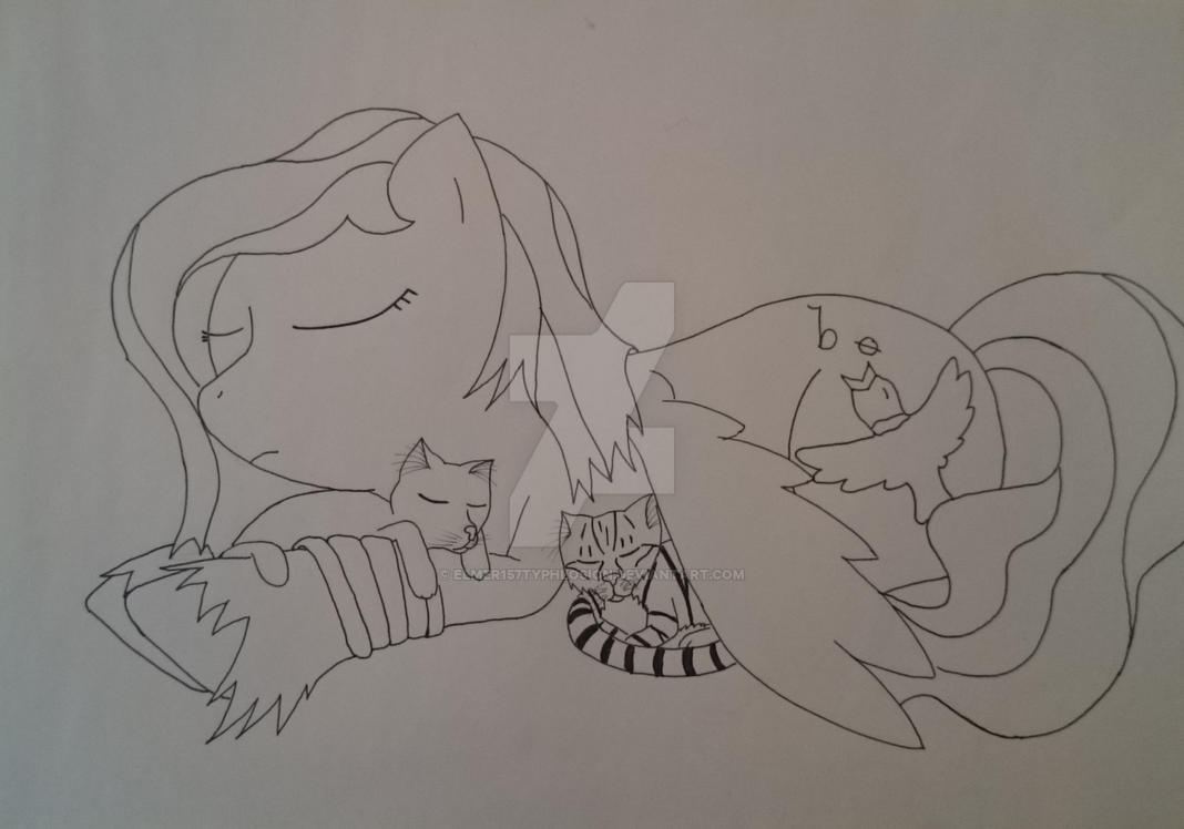 My two lovely cats by Elmer157Typhlosion