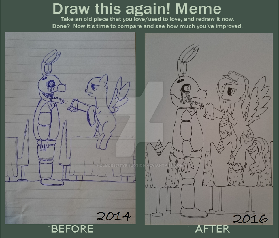 Draw this again meme: Fnaf- You poor thing by Elmer157Typhlosion
