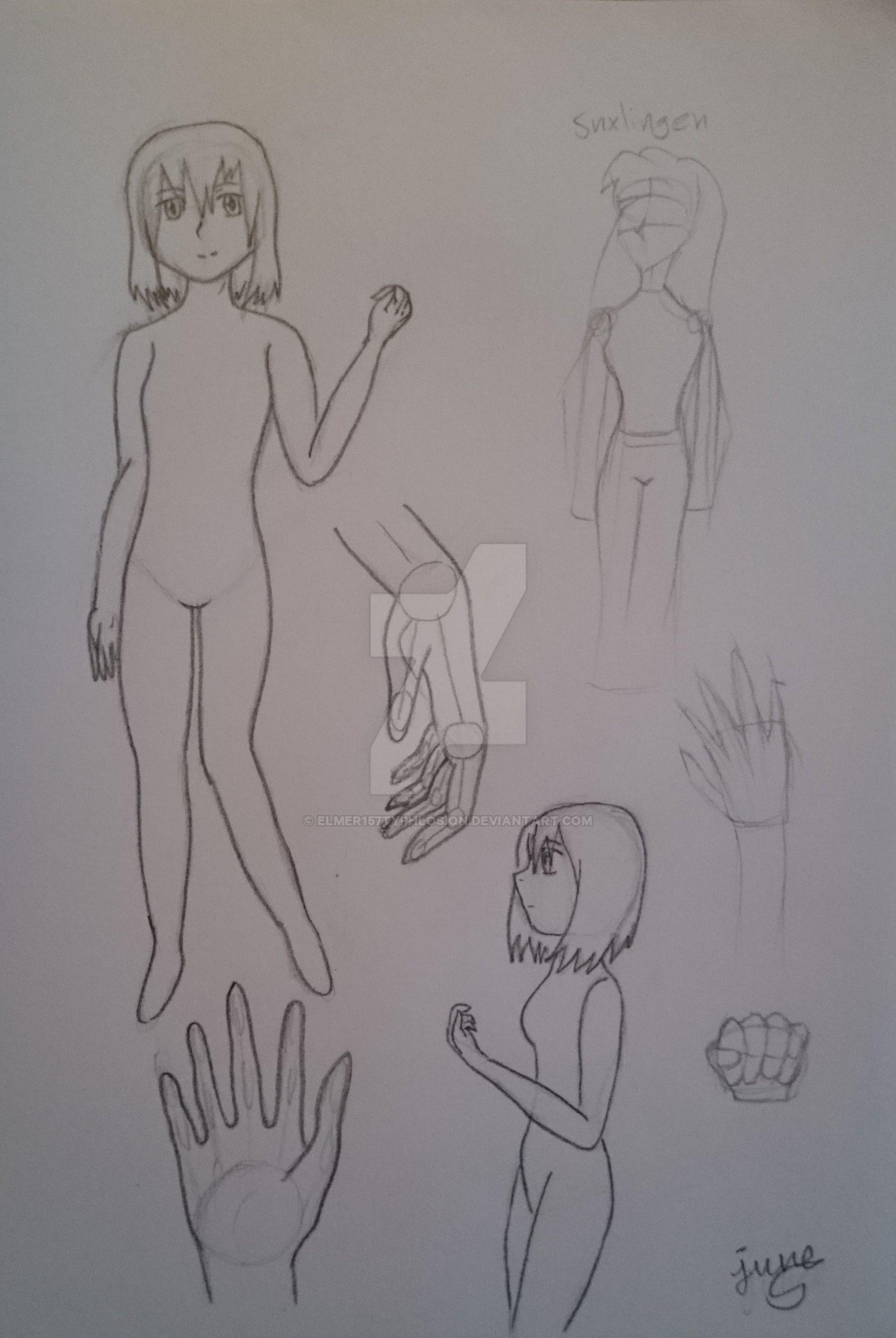 Body sketch by Elmer157Typhlosion