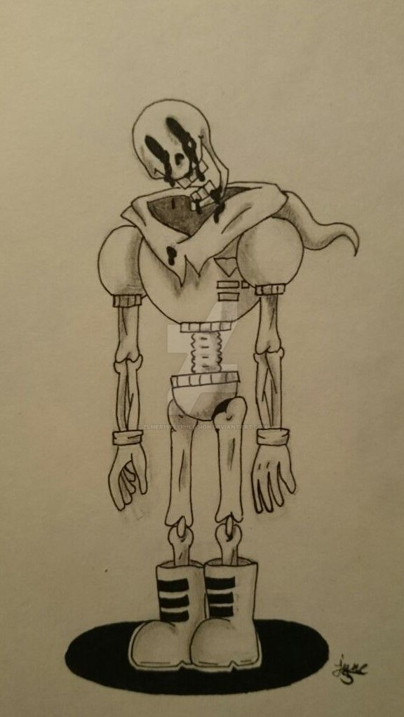 Creepy Papyrus by Elmer157Typhlosion