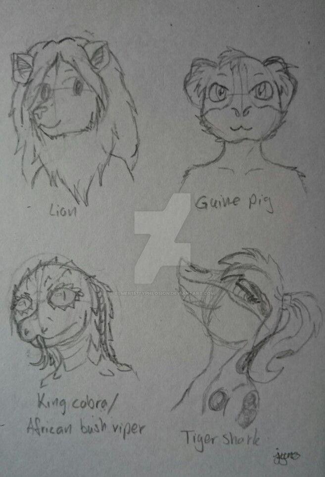 Furry Sketch by Elmer157Typhlosion