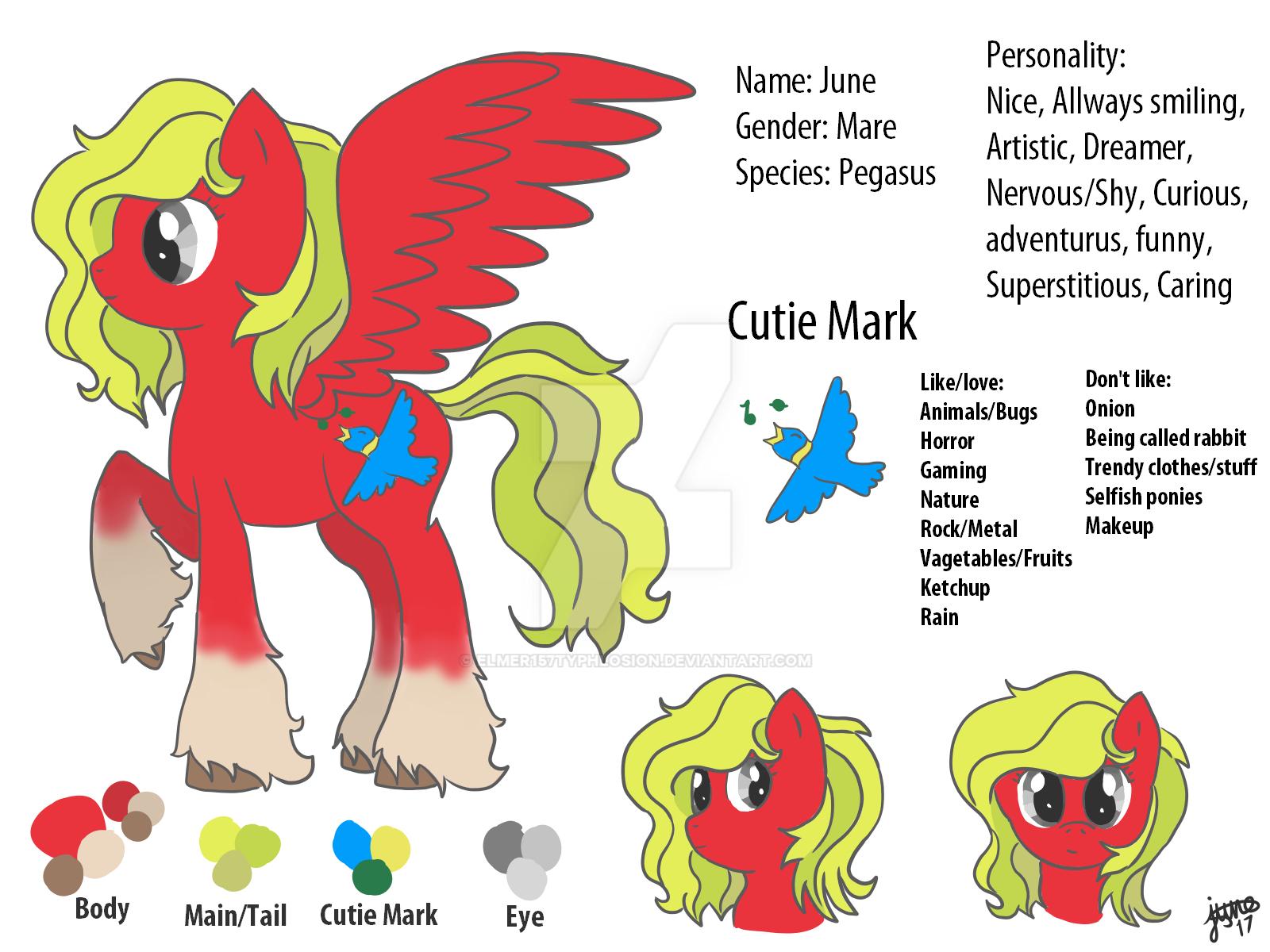 My Oc/Ponysona (updated) by Elmer157Typhlosion