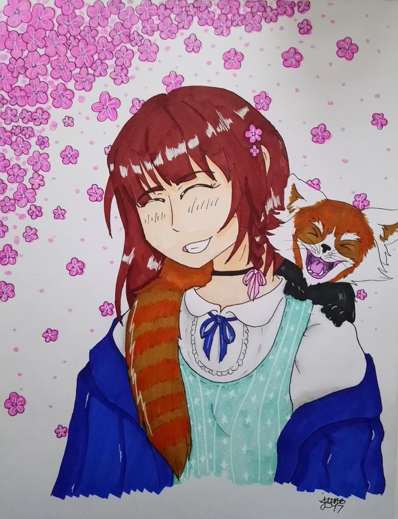Red panda girl by Elmer157Typhlosion