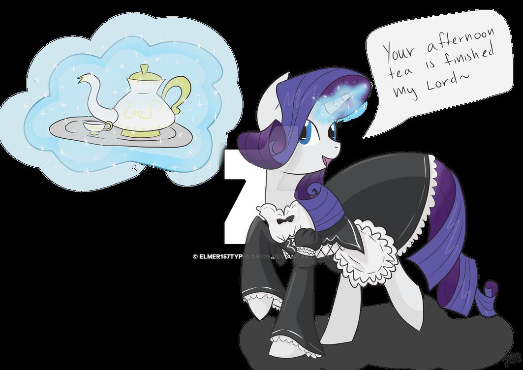 Maid Rarity (Reqest) by Elmer157Typhlosion