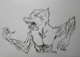 Inktober: day 8 - Werewolf  by Elmer157Typhlosion