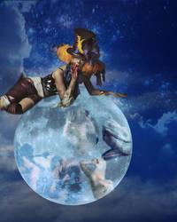 Moon Goddess Surprised by Reddawgi