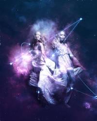 Gemini The Twins by Reddawgi