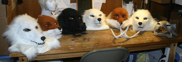 Masks with fur by Qarrezel