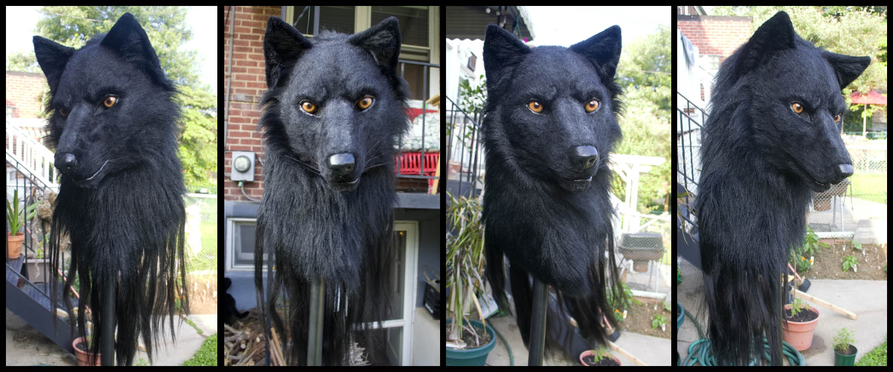 Black Wolf Mask 4-View by Qarrezel