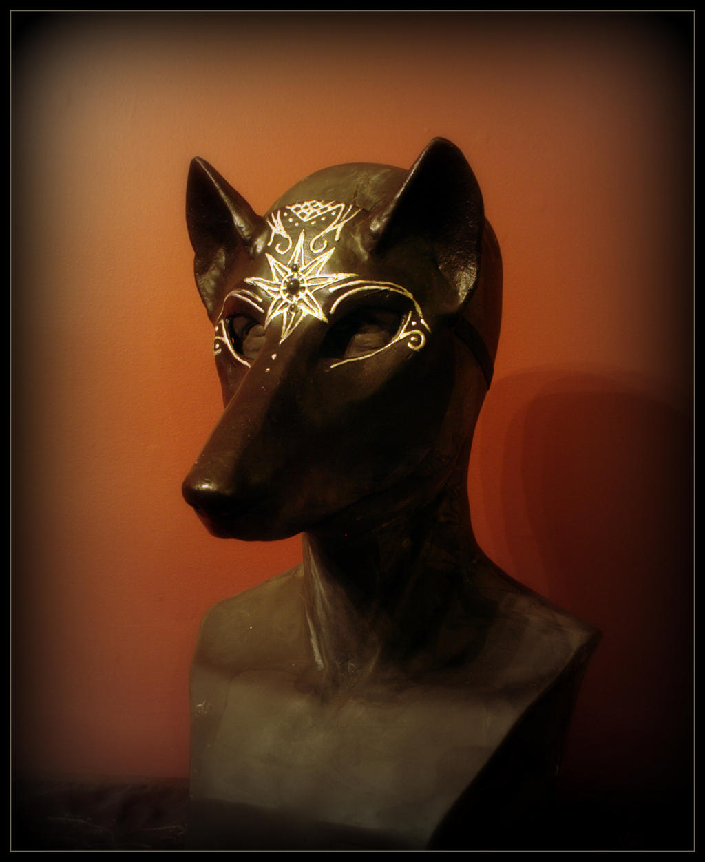 Midnight Wolf Masquerade Mask by Qarrezel
