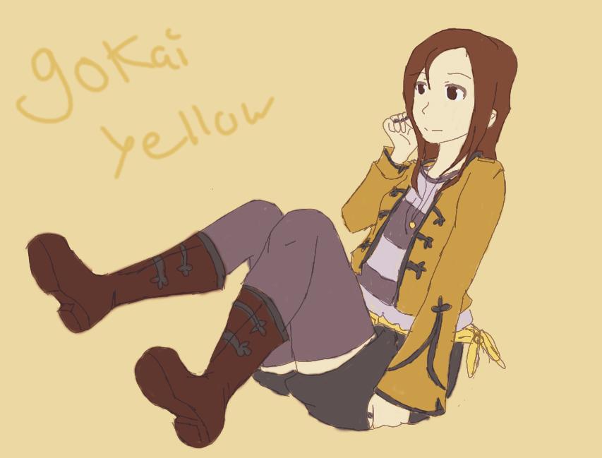 gokai yellow by ninjapet