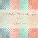 Sweet Vintage Scrapbooking Paper - Pack 01