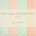 Sweet Vintage Scrapbooking Paper - Pack 03 by XiuLanStock