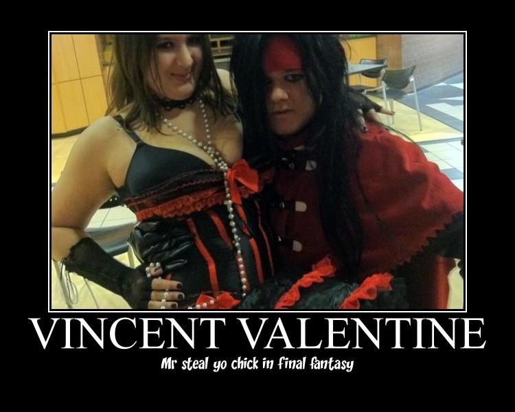 Vincent Valentine mr steal yo chick by DevinjKaibaSixx