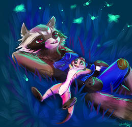 Fireflies - Rocket and Timon by Apeliotus