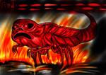 Red - NES Godzilla Creepypasta Fantart