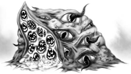Lumpy Shoggoth by NosoyRidley