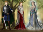 Knight, Queen, and Lady