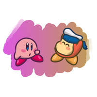Kirby and Sailor by LittleLlama45