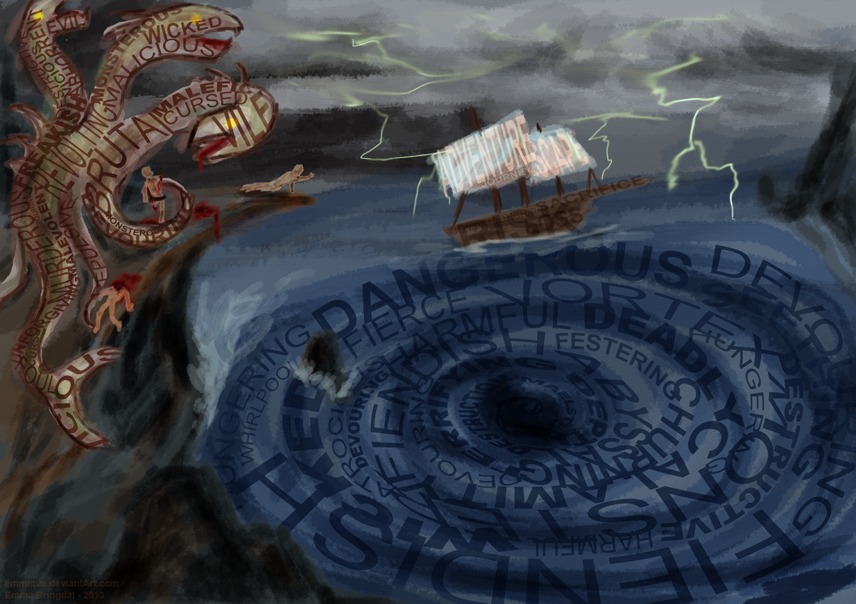 Odysseus And Scylla MrPsMythopedia - Chary...