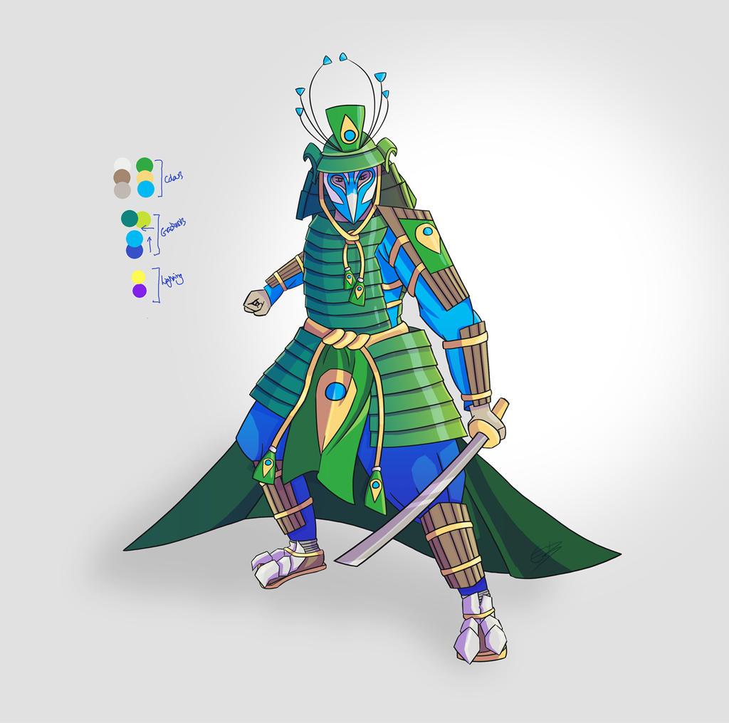 The Peacock Samurai