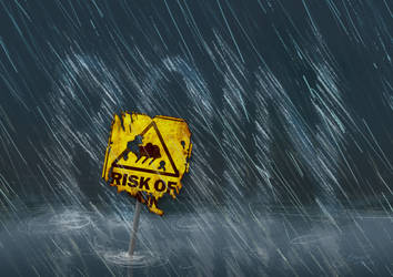 Typography Poster: Risk of Rain