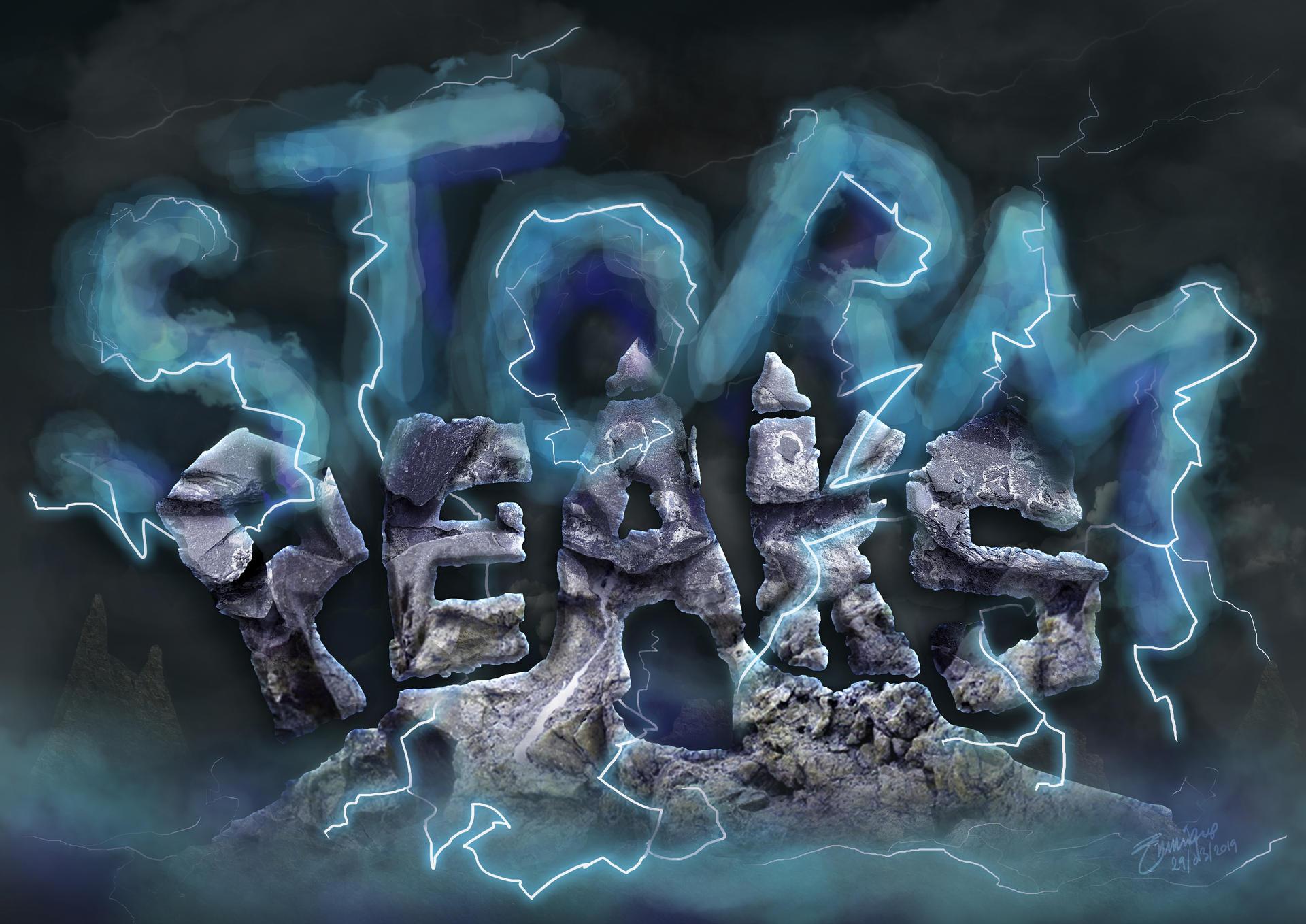 Typography Poster: Storm Peaks