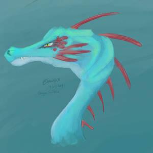 Scribbles - Blue Dragon