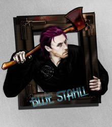 BlueStahli's Head White BG