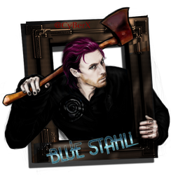 Blue Stahli's Head without bg