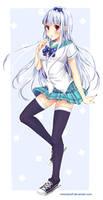 Snowy Schoolgirl