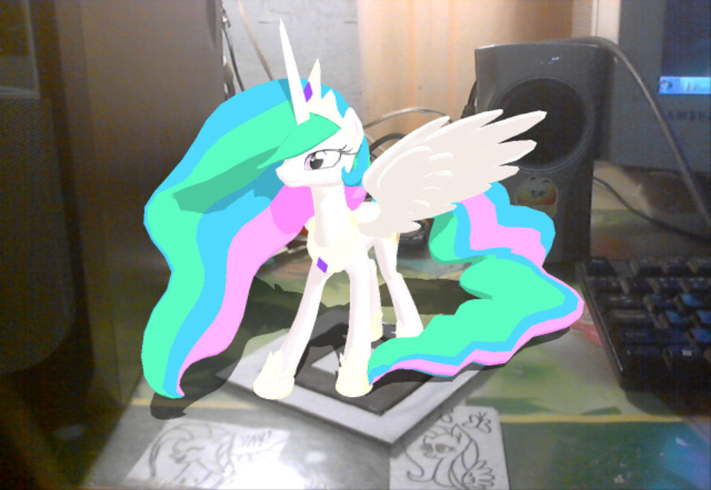 AR ToolKit MMD: Celestia! by NightmareMoooooon