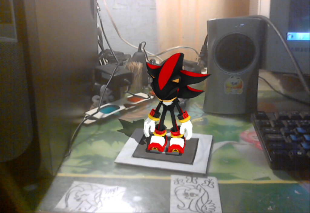 AR ToolKit MMD: Shadow The Hedgehog! by NightmareMoooooon