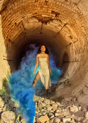 The Blue Smoke of the Desert Dwellers by alchemiststeve