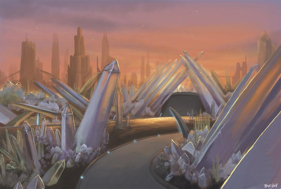 Cybertron - Crystal garden by Fan-the-little-demon
