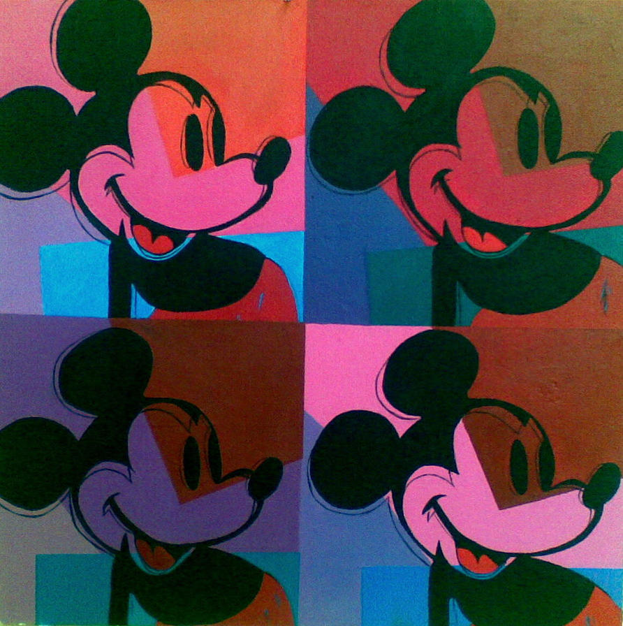 Mickey Mouse inspired by Andy Warhol by IVA150 on DeviantArt