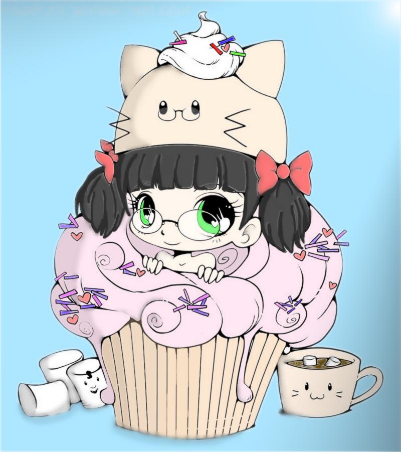 Chibi cupcake girl by epicglomp on DeviantArt