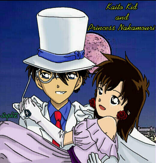 KID and Princess Nakamori by sapphire-pyro