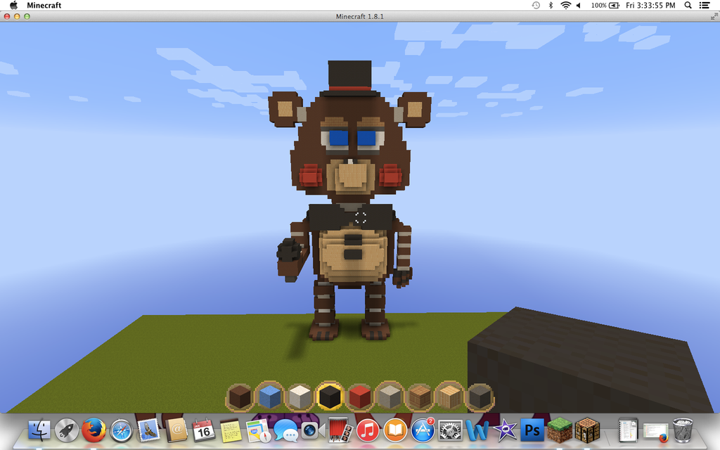 Minecraft Toy Freddy : Toy freddy in minecraft by thunderxleaf on deviantart
