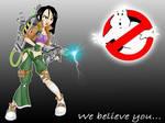 Girl ghostbuster