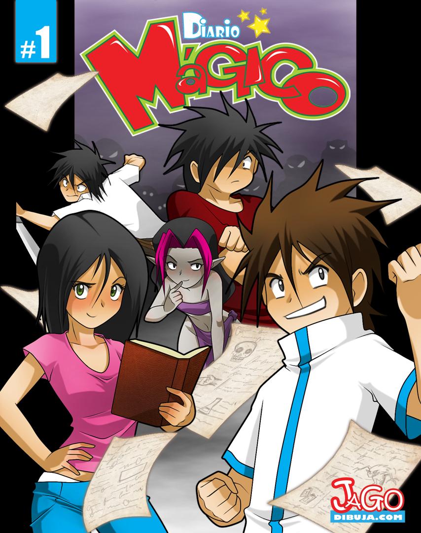 Diario Magico comic impreso cover preventa by JagoDibuja