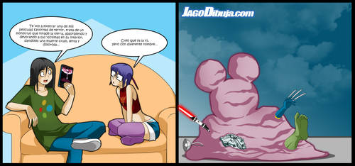 Living With Hipstergirl And Gamergirl-205 by JagoDibuja