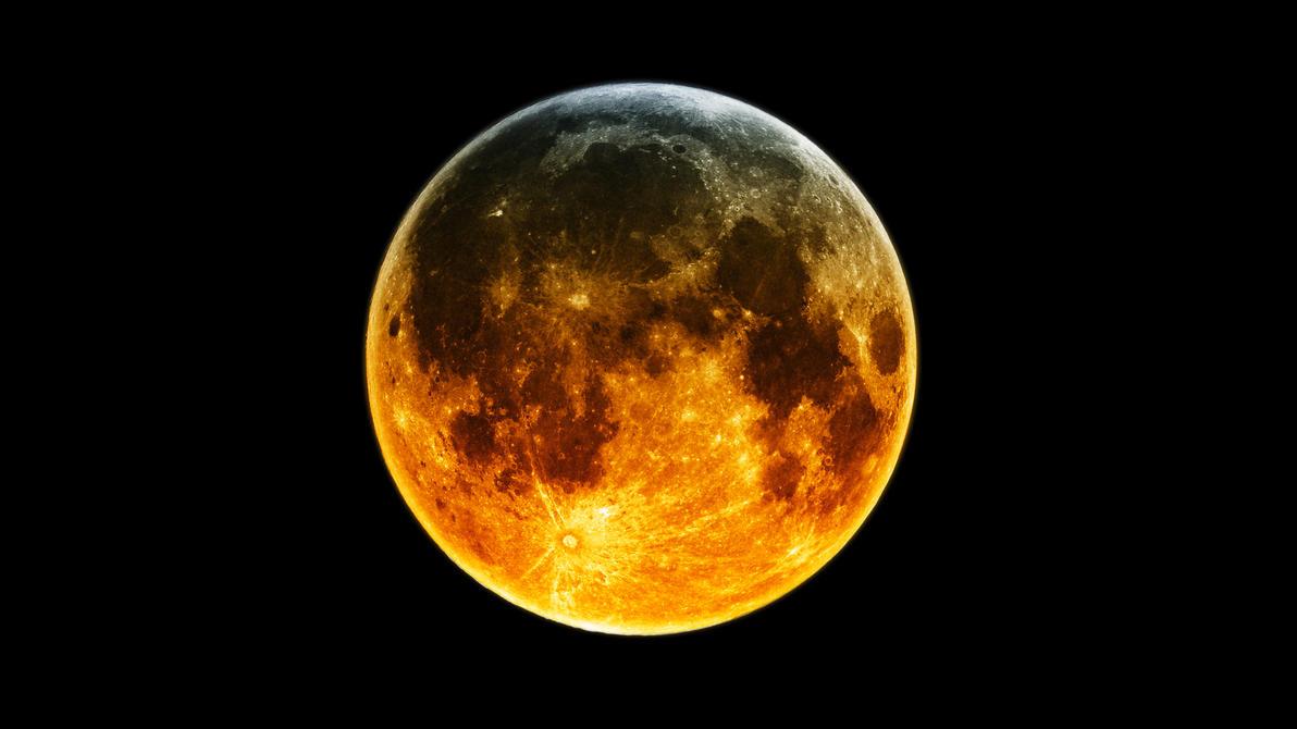 Moon by flesheatingbug