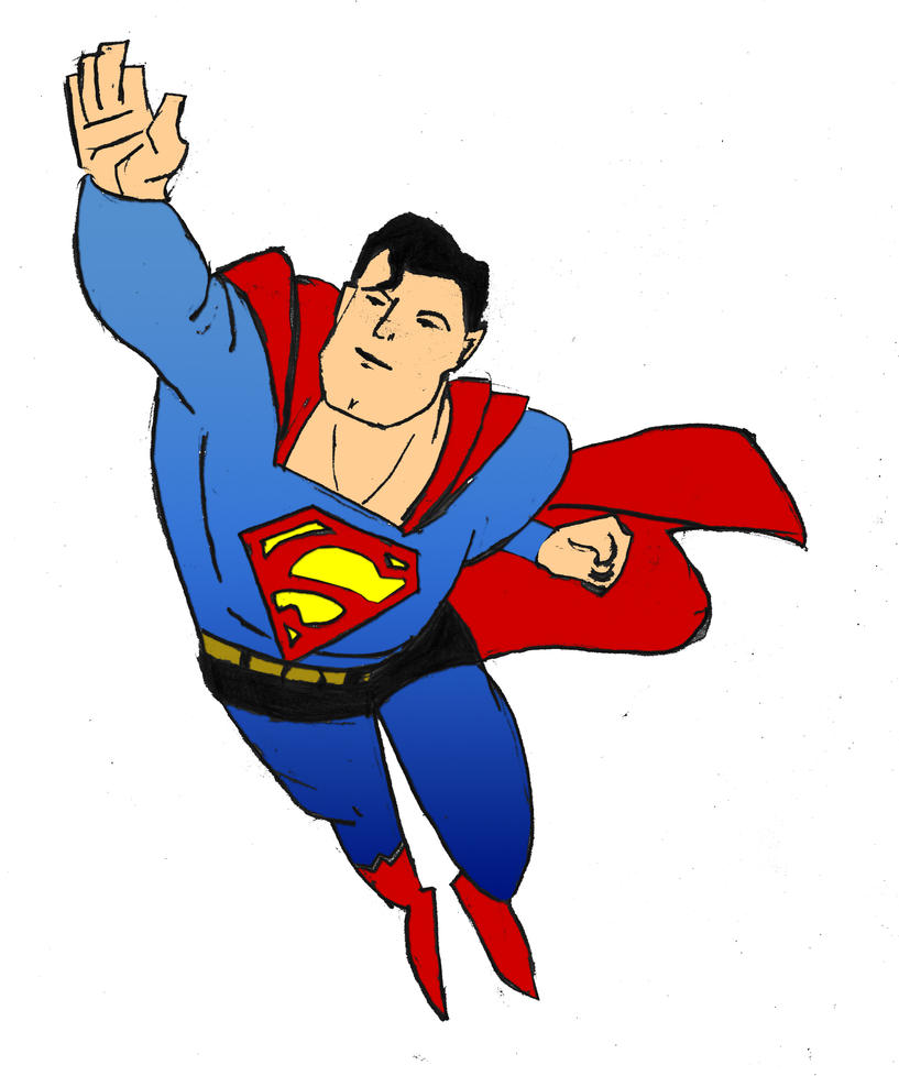 superman sketch in colour by flesheatingbug - Superman Pictures To Colour