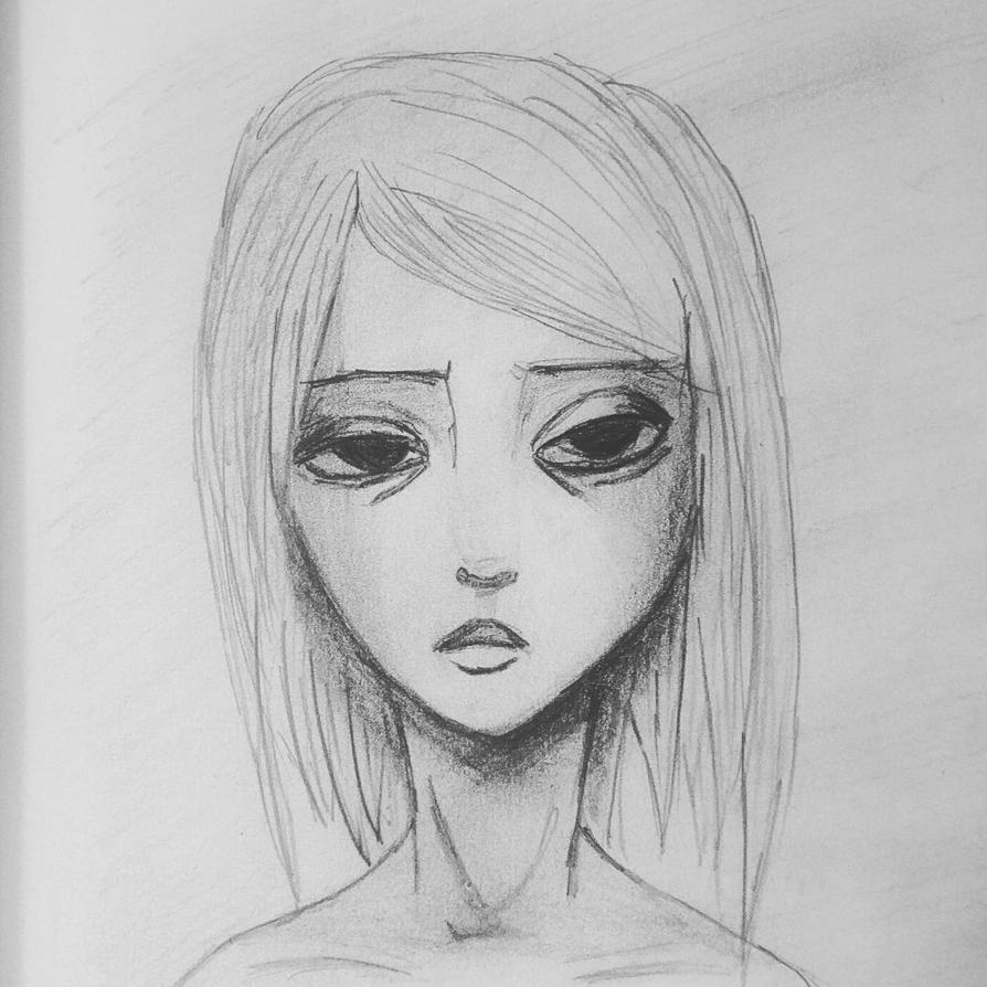 tired girl by flesheatingbug