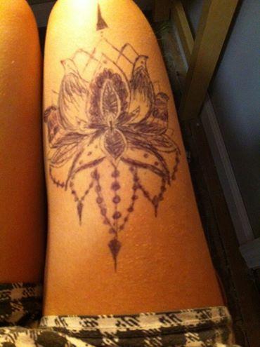 Thigh Body Art In Pen By Magicalunicornpuke On Deviantart