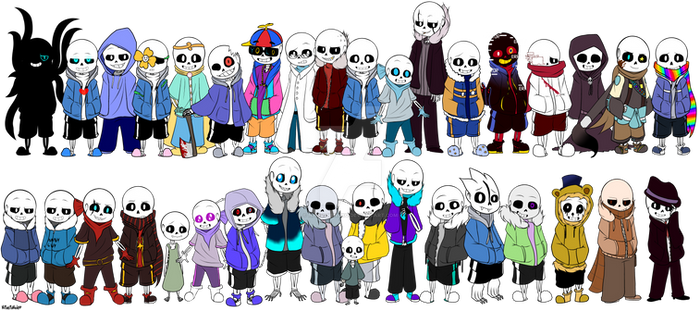 Sans Alternative Universes #1 + SPEEDPAINT