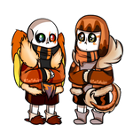 Commission #74: Sal and Phoenix Chibi
