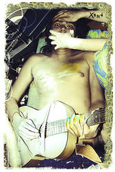 le panda guitarrr by x-oma