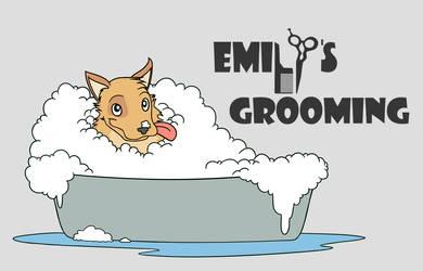 Dog Grooming Logo by OaknOats